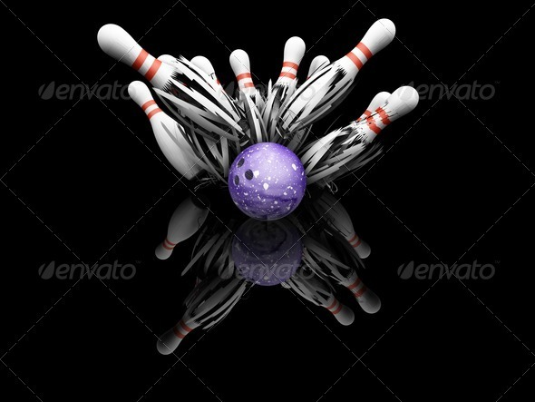 Ten pin bowling smash - Objects 3D Renders