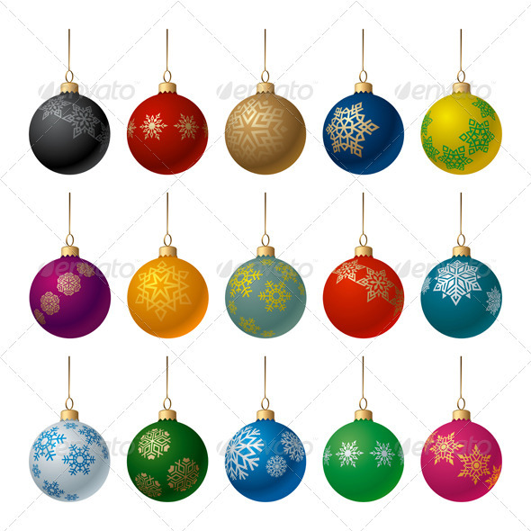 Christmas Balls Set - Christmas Seasons/Holidays