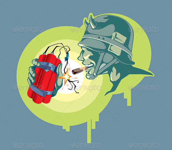 Soldier with an Explosive - Characters Vectors