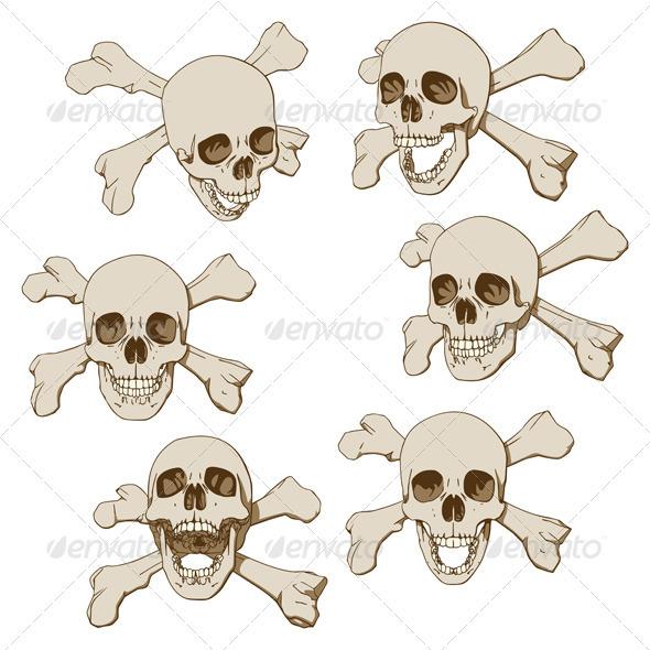 Six Skulls Set - People Characters