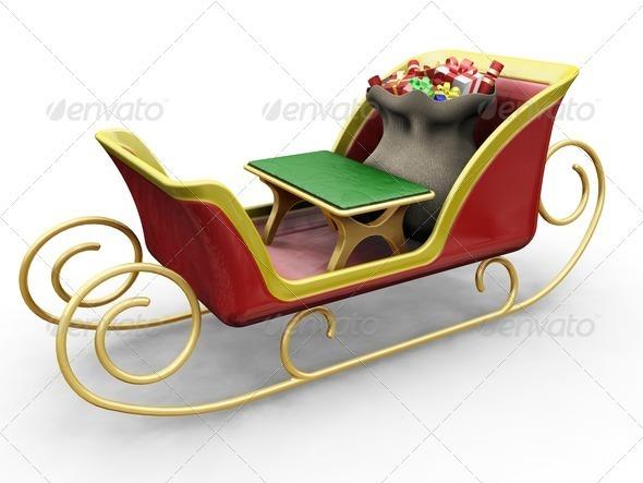 Santas sleigh - Objects 3D Renders