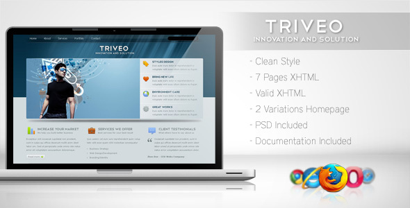 Triveo – Clean Business Template 3
