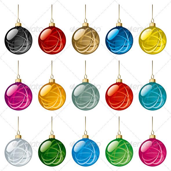 Christmas Balls Set - Christmas Seasons/Holidays