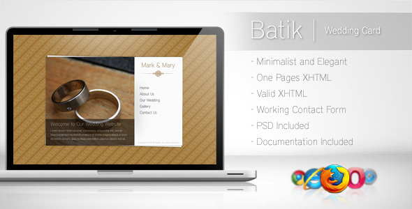 Batik - Minimalist Wedding Card - Wedding Site Templates
