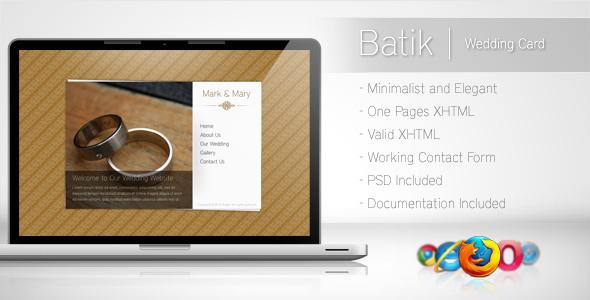 Free Download Batik - Minimalist Wedding Card Nulled Latest Version