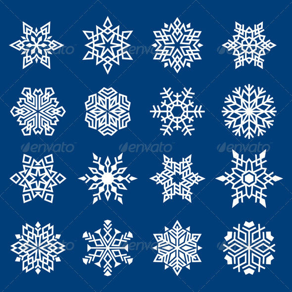 Set of Snowflakes Ornament - Christmas Seasons/Holidays