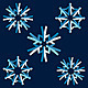 Set of Origami People Snowflakes - GraphicRiver Item for Sale