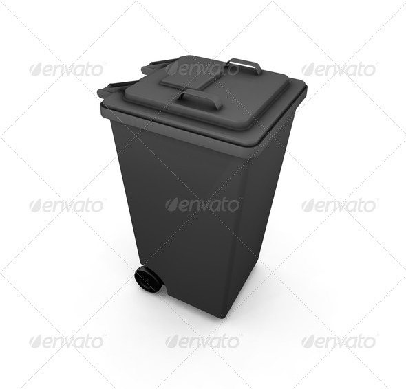 Wheelie bin - Objects 3D Renders