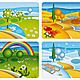 Four Seasonal Banners - GraphicRiver Item for Sale