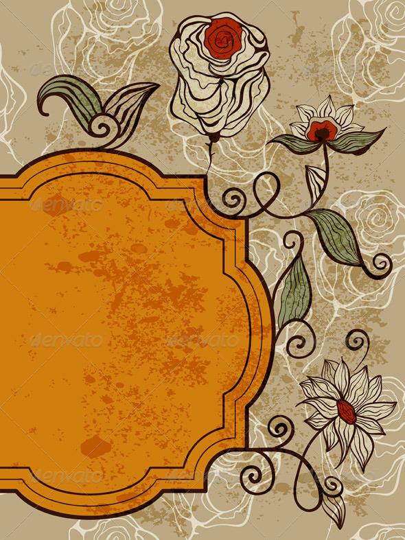 Vector Greeting Card  - Decorative Symbols Decorative