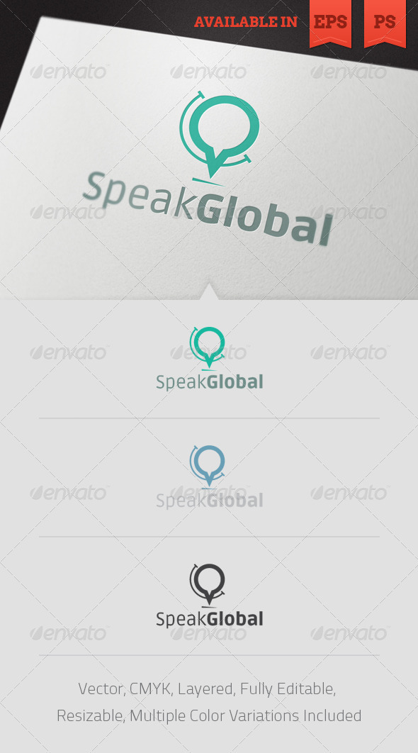 Speak Global Logo Template - Objects Logo Templates