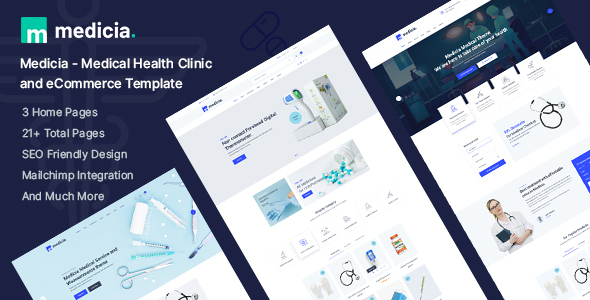Medicia – Medical Health Clinic and eCommerce HTML5 Template