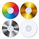 Set of Four Blank CDs - GraphicRiver Item for Sale