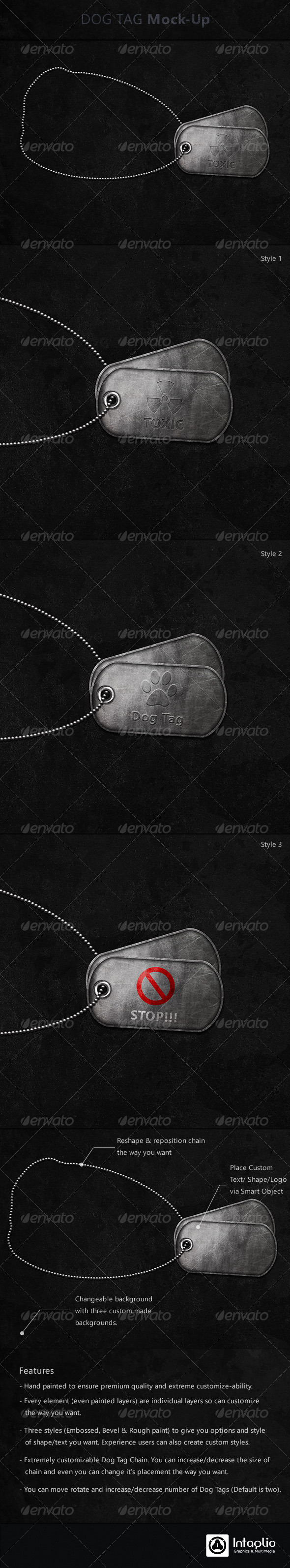 Dog Tag Mock-Up - Objects Illustrations