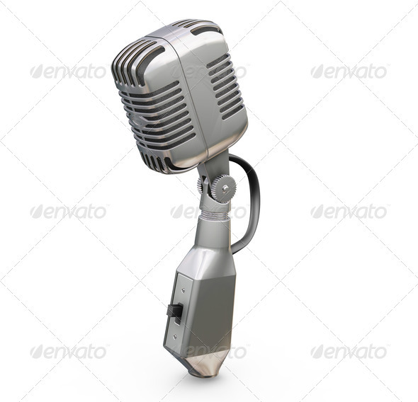 Retro microphone - Technology 3D Renders