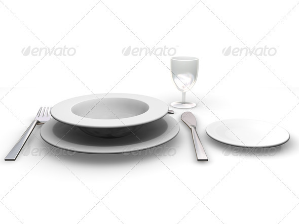 Place setting - Objects 3D Renders