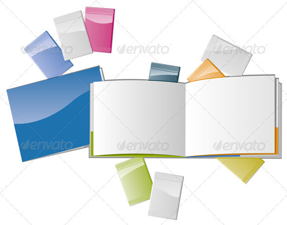 Open Magazine with Samplers - Backgrounds Business