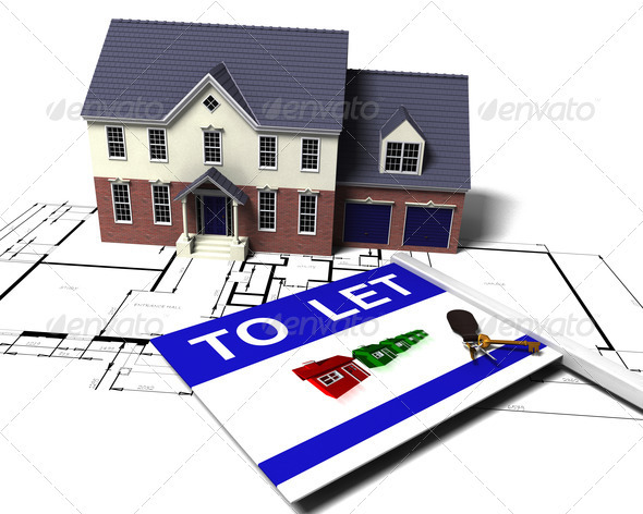 House to let - Architecture 3D Renders