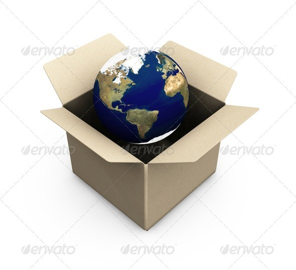 Earth in a box - Abstract 3D Renders