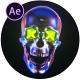 Skull Glitch Logo Reveal - VideoHive Item for Sale