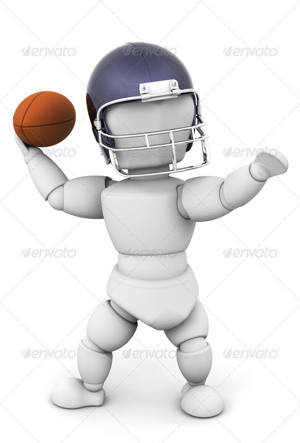 Football player - Characters 3D Renders