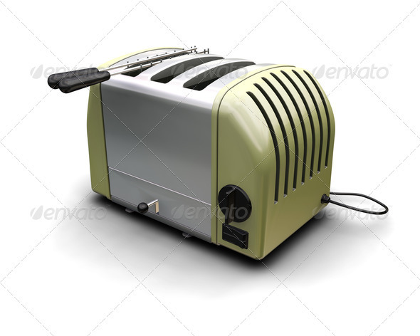 Retro toaster - Objects 3D Renders