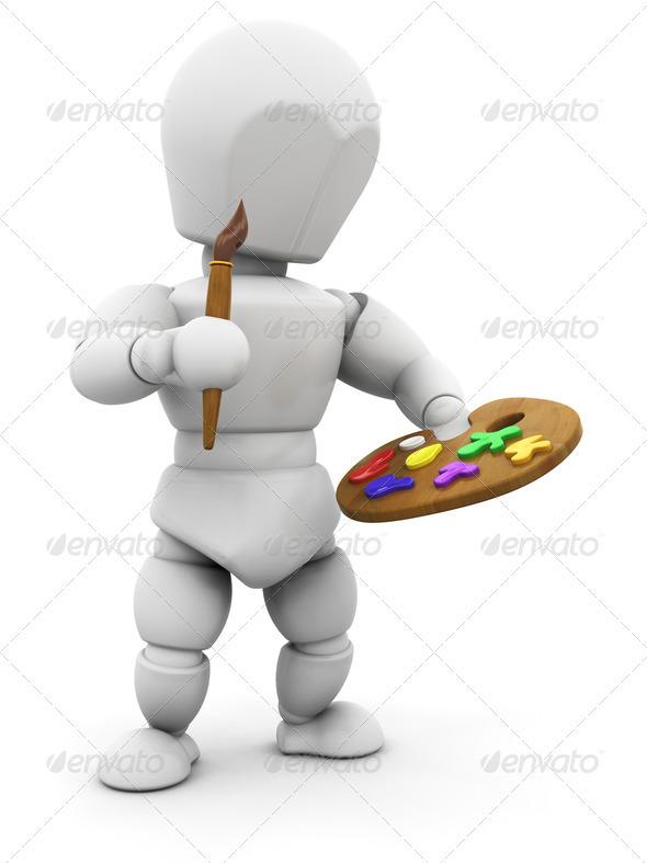 Artist - Characters 3D Renders