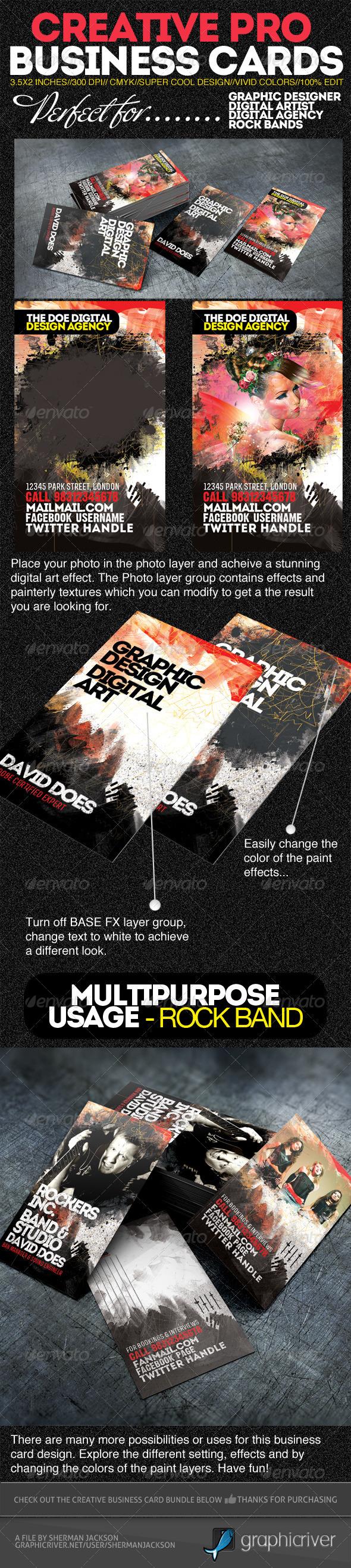 Creative Pro Designer Business Cards PSD Template - Creative Business Cards