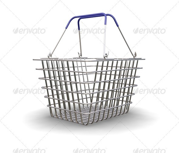Shopping basket - Objects 3D Renders
