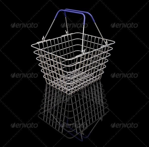 Shopping baskets - Objects 3D Renders