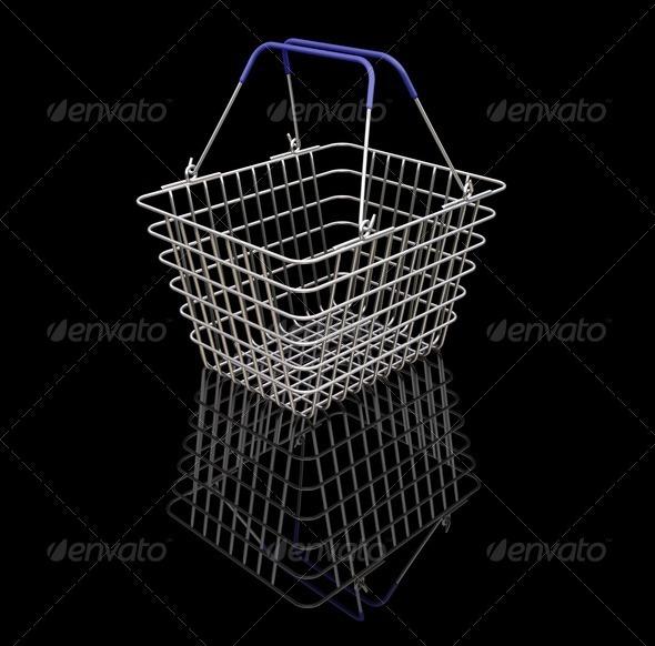 Shopping baskets - Objects 3D Renders