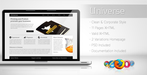 Free Download Universe - Corporate Business Template 2 Nulled Latest Version