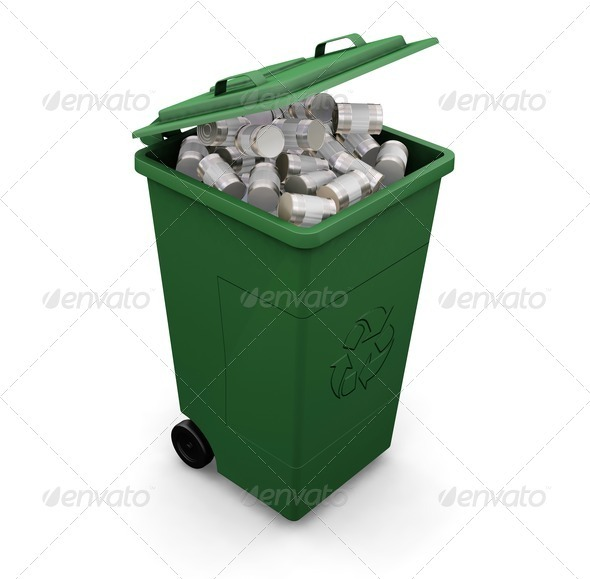 Recycling bin - Objects 3D Renders