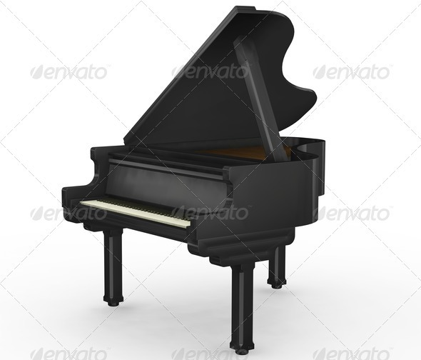 Grand piano - Objects 3D Renders