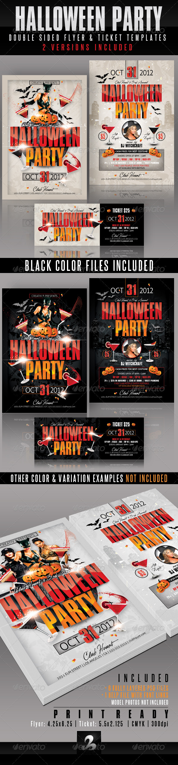 Halloween Party Flyer and Ticket Templates - Holidays Events
