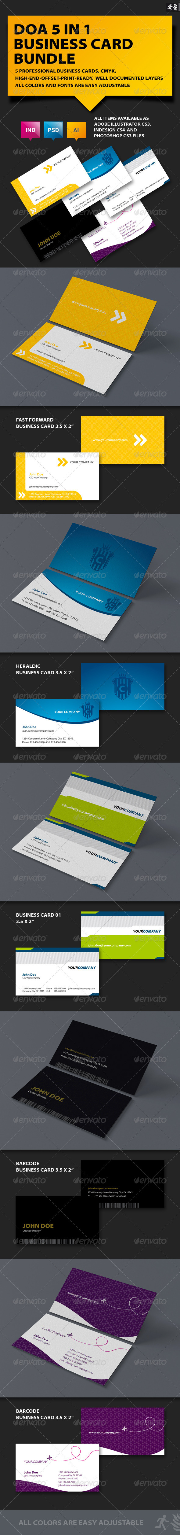 DOA 5 Business Card Bundle - Corporate Business Cards