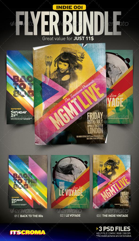 Indie Flyer Bundle | 001 - Clubs & Parties Events