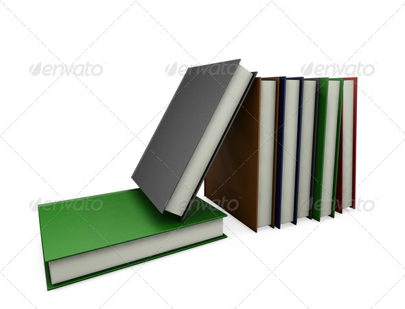 Books - Objects 3D Renders