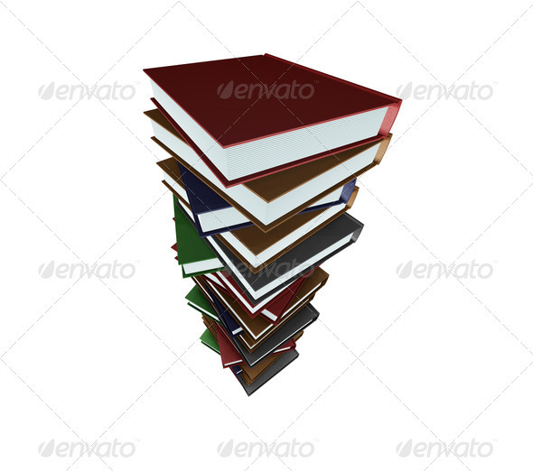 Stack of books - Objects 3D Renders
