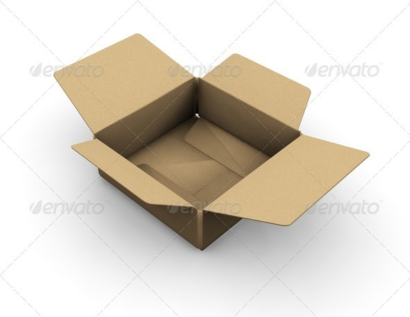 Open box - Objects 3D Renders