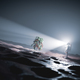 Astronaut discovers green plant on Mars - PhotoDune Item for Sale