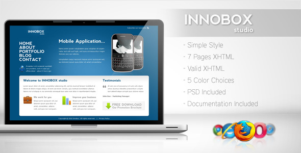 Innobox - Simple Business Template 2 - Business Corporate