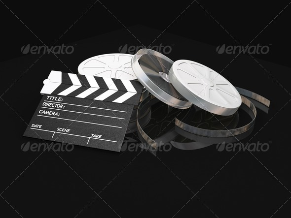 Movie items - Objects 3D Renders