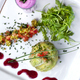 Vegetarian dish on a white plate - PhotoDune Item for Sale