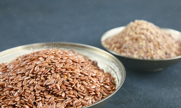 Flaxseed - Stock Photo - Images