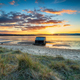 Dramatic sunset over houseboats moored in Bramble Bush Bay - PhotoDune Item for Sale