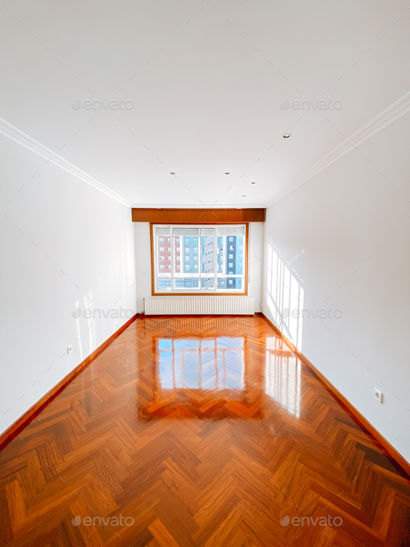 Empty interior of a white room - Stock Photo - Images