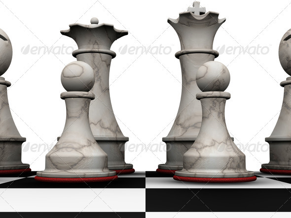 Chess pieces - Objects 3D Renders