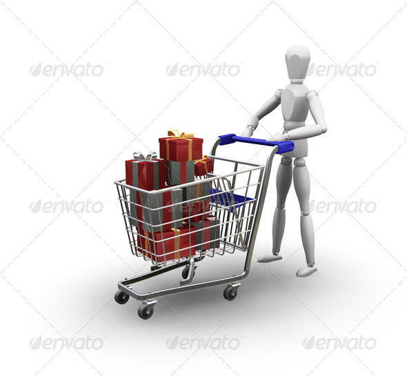 Christmas shopping - Objects 3D Renders