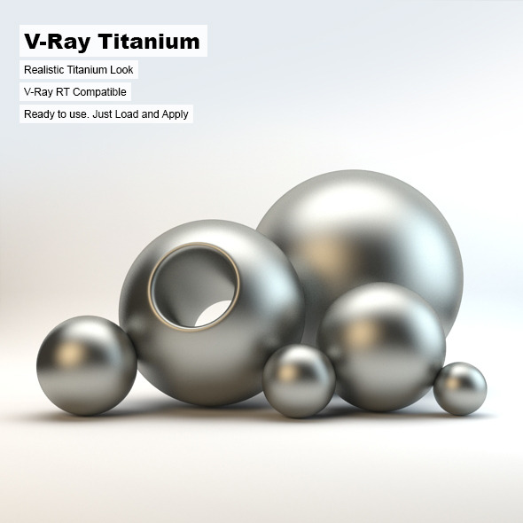V-Ray Titanium Material - 3DOcean Item for Sale